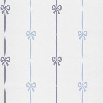 Vliestapete Schleifen Blau Weiß