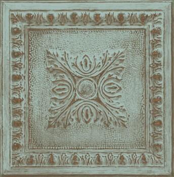 Rasch Textil Restored 23-024032 grün Tapete Stein Muster Ornament
