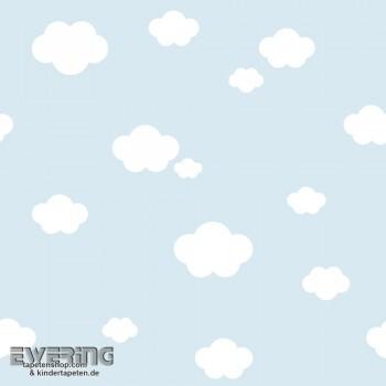 Hell-Blau Wolken Papiertapete