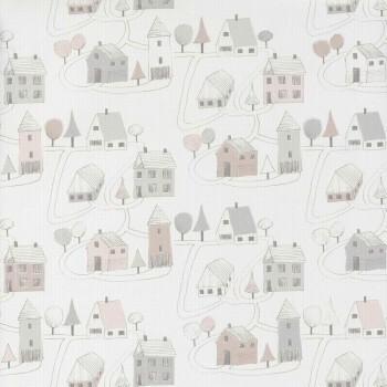 Papieroptik Tapete Häuser
