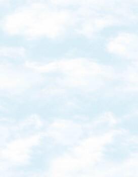 Tapete Vlies Wolken Hell-Blau