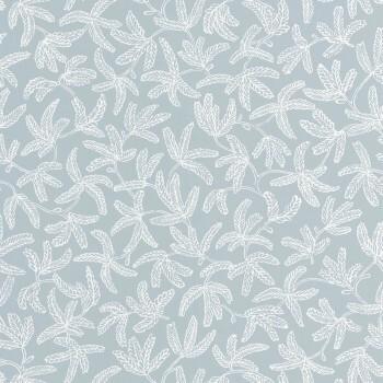 36-HYG100577029 Texdecor Caselio - Hygge Blätter Blaugrau Tapete