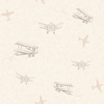 Beige Flugzeuge Tapete