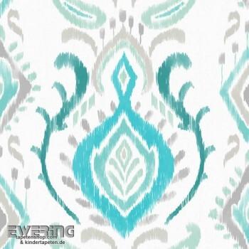 23-148646 Cabana Rasch Textil Verzierung türkis Vliestapete
