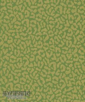23-077369 Cassata Rasch Textil Textiltapete Leopardenmuster grün