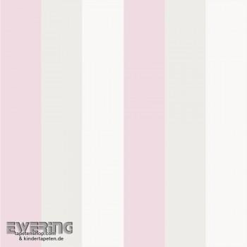 Rosa Beige Streifen-Tapete Kind
