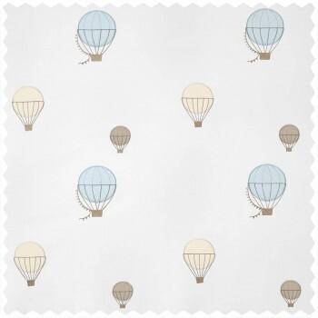 Dekostoff Heißluftballons blau