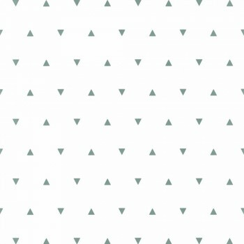 Tapete Vlies Weiß Grün Kleine Dreiecke Our Planet