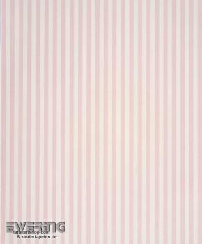 Rosa Streifen Papiertapete Mädchen