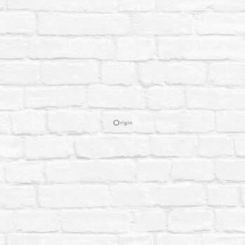 Vliestapete Creme-Weiß Maueroptik