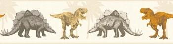Borte Orange Dinosaurier Vlies