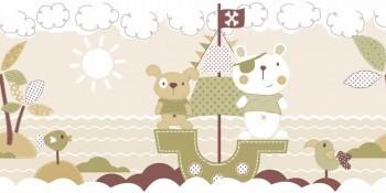 Borte Piraten Oliv-Grün Vlies Bären
