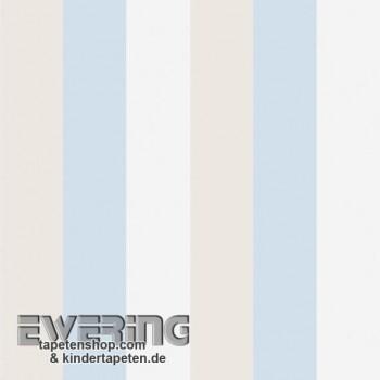 SALE 1 Rolle Baby-Blau Streifen Papier