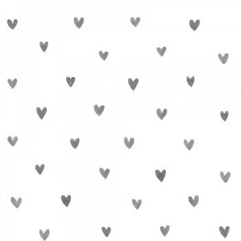 Vliestapete Herzen Schwarz Weiß