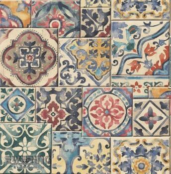 23-022301 Reclaimed Rasch Textil Mustertapete bunt Vliesträger
