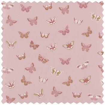 Dekostoff Rosa Schmetterlinge