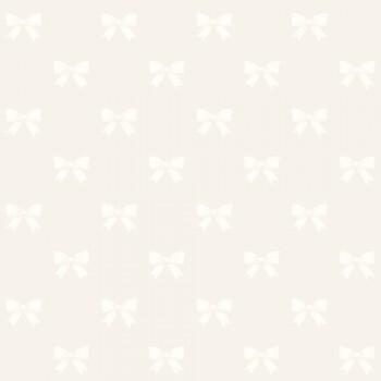 Tapete Schleifen Creme-Weiß