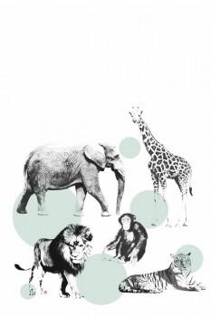 Tiere Wandbild Punkte Xl