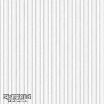 Streifentapete Beige-Grau
