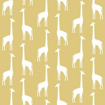 Tapete Giraffen Senf-Gelb