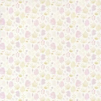 Tropen-Blätter Pink Tapete