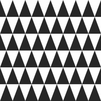 Schwarz Weiß Dreiecke Vliestapete