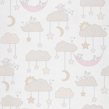 Wolken Beige-Braun Tapete Vlies