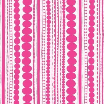 Pink Muster Vlies Tapete Streifen Mädchen