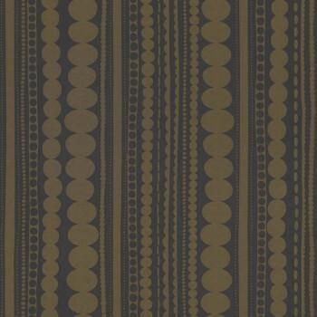 Schwarz-Gold Streifen Muster Vliestapete