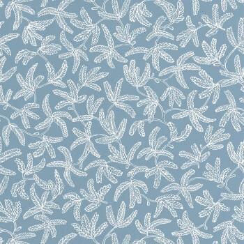 Texdecor Caselio - Hygge 36-HYG100576000 Tapete Hellblau Blumen