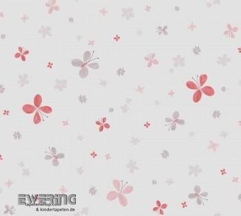 Mädchen Blumen Rot Deko-Stoff