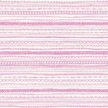 Pink Weiß Spitzenmuster Vliestapete
