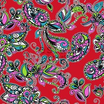 Vliestapete Funky Blumen Paisleys Mehrfarbig
