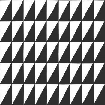 Tapete Schwarz Weiße Dreiecke