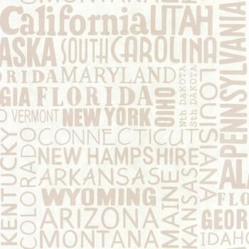 Caselio - Tonic 36-TONI69461001 Vlies Tapete Schrift taupe USA