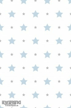 Sterne Hell-Blau Papiertapete