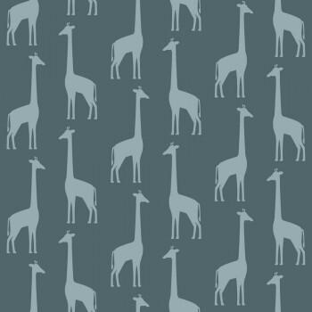 Tapete Dunkel-Blau Giraffen