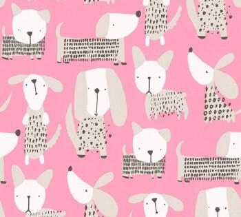 Tapete Pink Glänzende Hunde