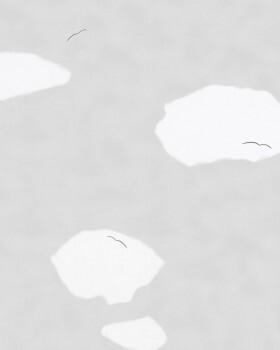 Vliestapete Hellgrau Wolken