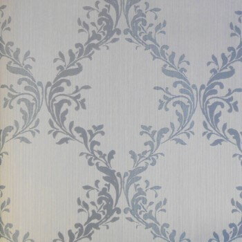 Rasch Textil Velluto 23-074887 Textiltapete hellblau Flur Barock Ornamente
