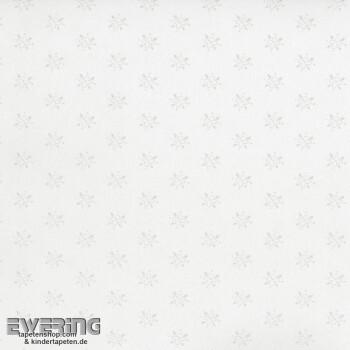 Creme-Weiß Blumentapete