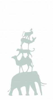 Wandbild Tiere Mint-Grün