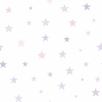 Vliestapete Sterne Rosa Lila
