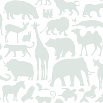 Tapete Tiere Mint-Grün