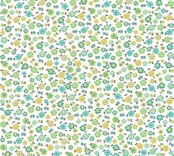 Grün Blumen-Tapete Weiß Vliestapete