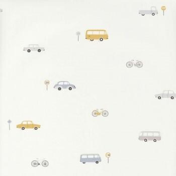 Weiß Vliestapete Fahrzeuge