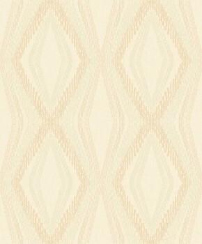 37-OR3004 Grandeco Origine Vliestapete creme-beige große Rauten