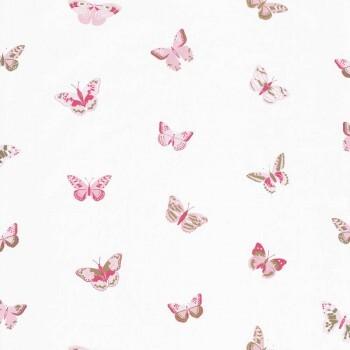 Tapete Rosa Schmetterlinge