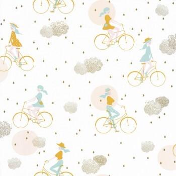 Tapete Weiß Fahrrad