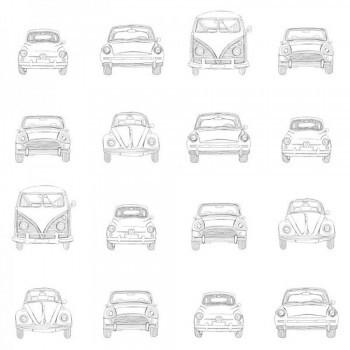 Autos Vw Vliestapete Grau